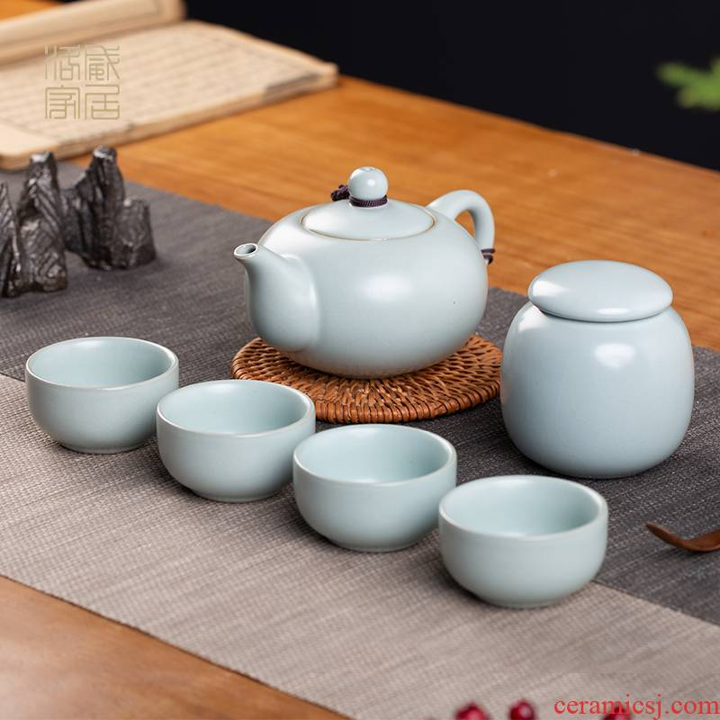 Your up was a small set of jingdezhen ceramic kung fu tea tea home portable teapot teacup suits for the to travel