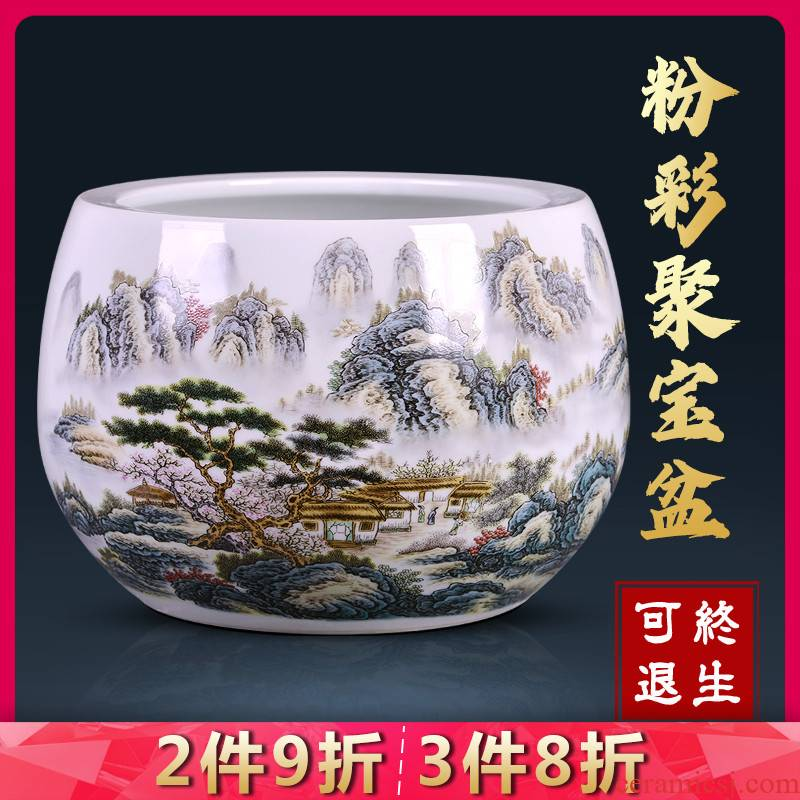 Jingdezhen ceramic plutus cornucopia of archaize pastel sitting room porch household adornment handicraft furnishing articles feng shui