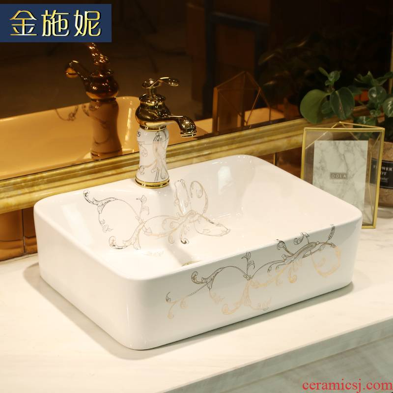 Nordic stage basin art ceramic lavabo single rectangle hotel home balcony mini lavatory basin
