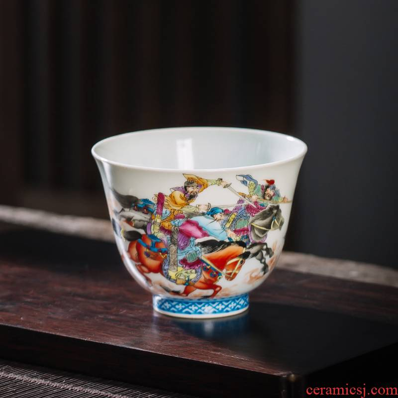 The Owl up jingdezhen tea master kung fu tea cup single CPU hand - made ancient characters make tea cup sample tea cup