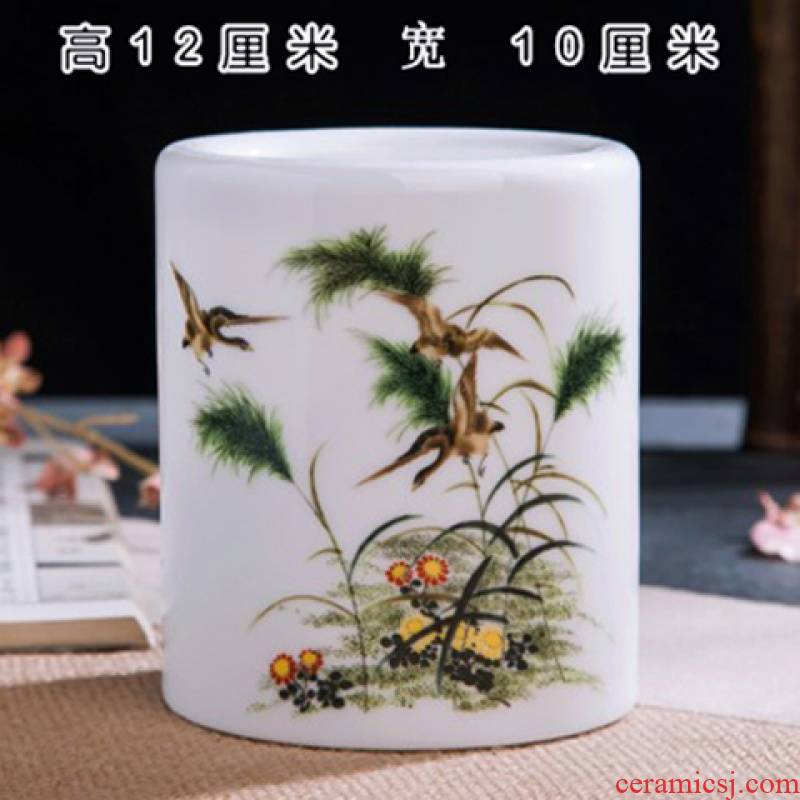 Stationery multi - functional pen container creative fashion a lovely student desktop furnishing articles contracted office receive a box of ceramics