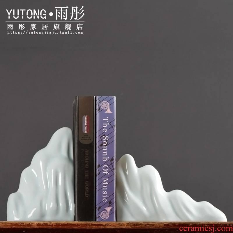 Jingdezhen ceramic book by furnishing articles creative book clip book by book stand study desk ceramic handicraft ornament