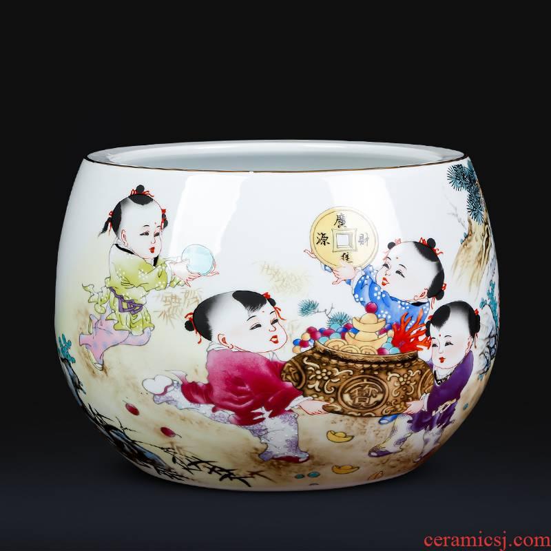 Jingdezhen ceramics powder enamel maxim cornucopia creative home furnishing articles sitting room porch decoration ornament