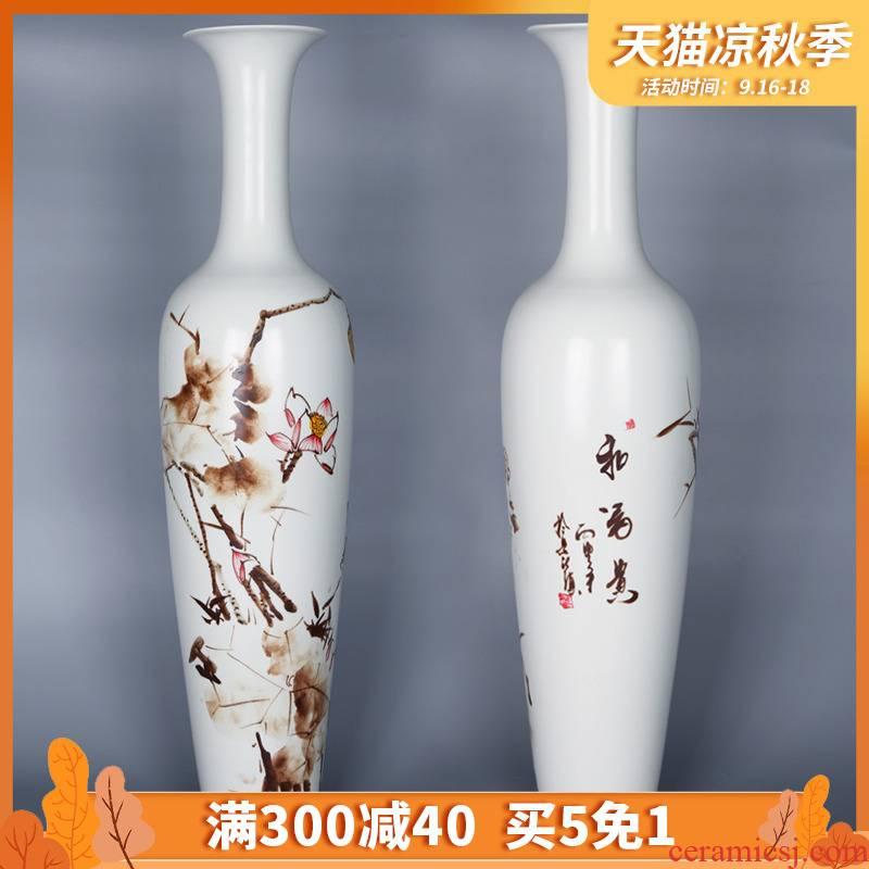 047 hand - made vases pearl jingdezhen ceramics glaze porcelain vases furnishing articles of modern home decoration harmony