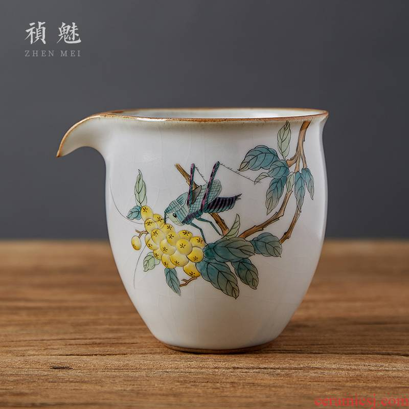 Loquat fair keller shot incarnate your up hand - made cricket jingdezhen ceramic tea kungfu tea accessories points