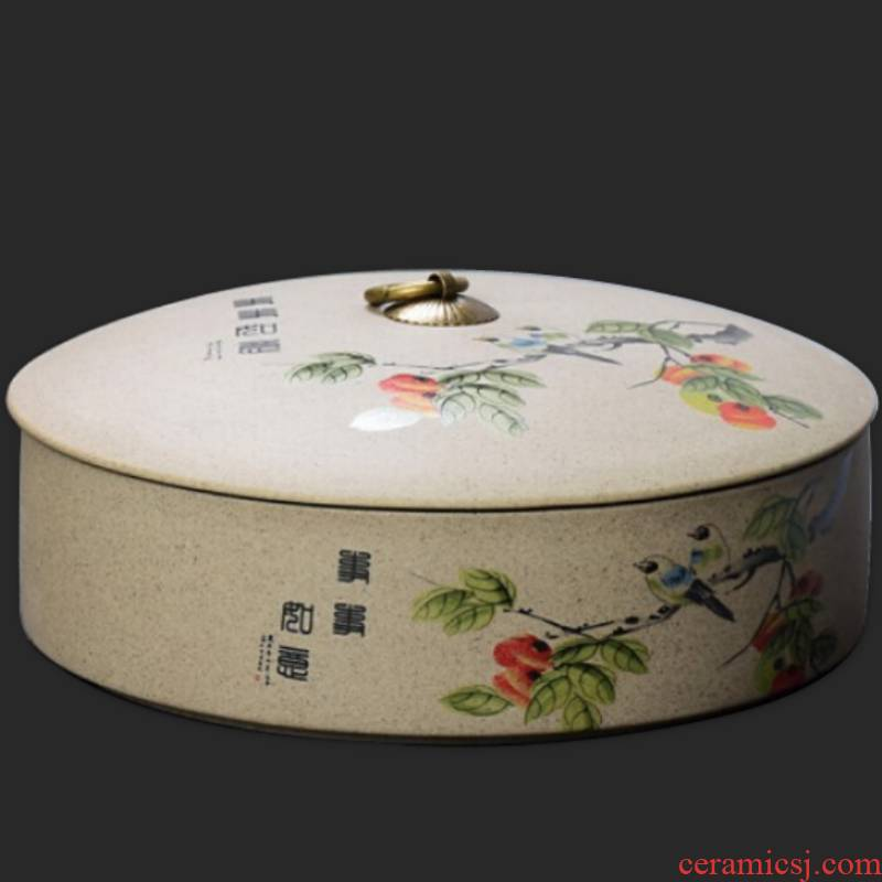 Ya xin coarse pottery tea cake ceramic clay pot store tea POTS tea tin as cans of multilayer large - sized caddy fixings