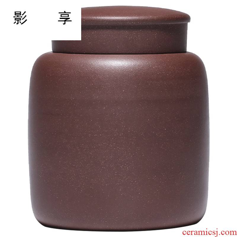Shadow at yixing purple sand tea pot undressed ore region of purple clay POTS awake storage sealed as cans of tea packaging JH