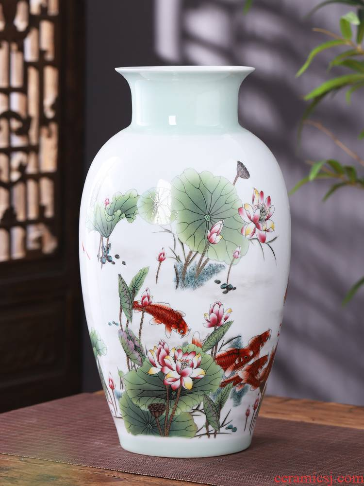 Jingdezhen ceramics, vases, flower arrangement sitting room place in modern Chinese style household TV ark, decoration bottles