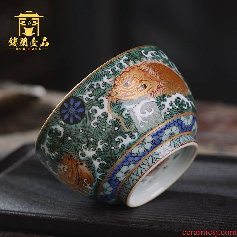 All hand - made ancient dragon turtle master of jingdezhen ceramics kung fu tea tea cup large household single cup bowl