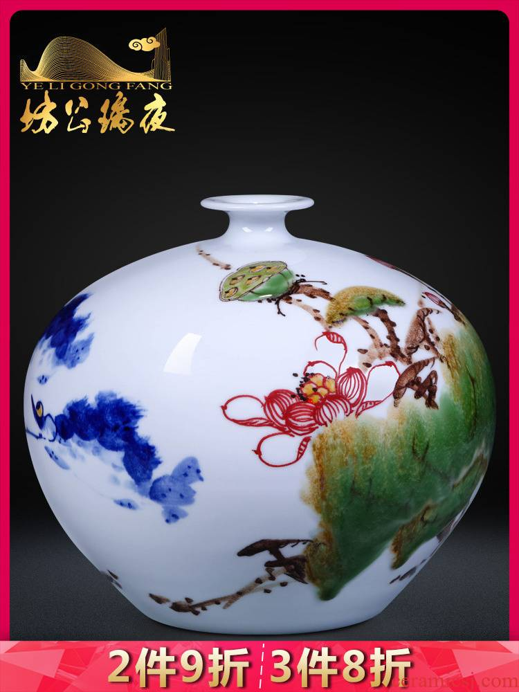 Hand draw the blue and white porcelain up jingdezhen ceramics, vases, flower arranging new Chinese style living room home furnishing articles