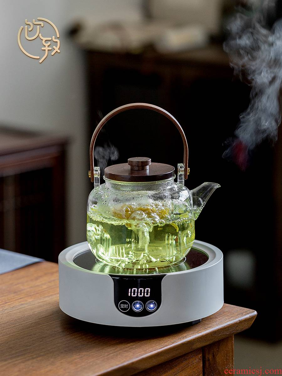 Ultimately responds to the high temperature resistant glass teapot thickening boiled tea steamer automatic boiling tea stove electric TaoLu household utensils suit group
