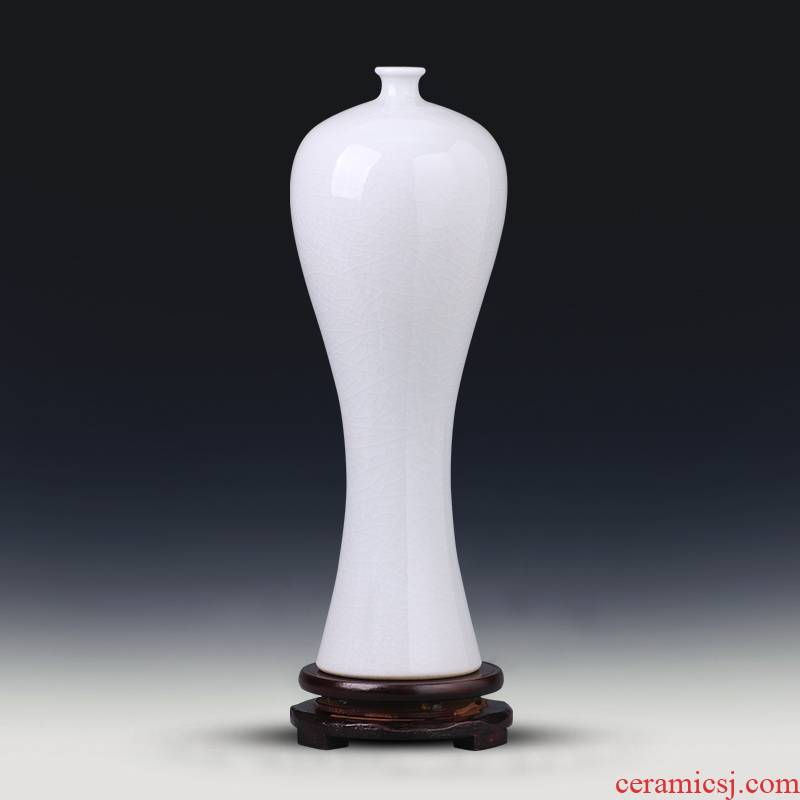Jingdezhen ceramics mei small white bottle expressions using vases, flower arranging new Chinese style household furnishing articles wine sitting room adornment