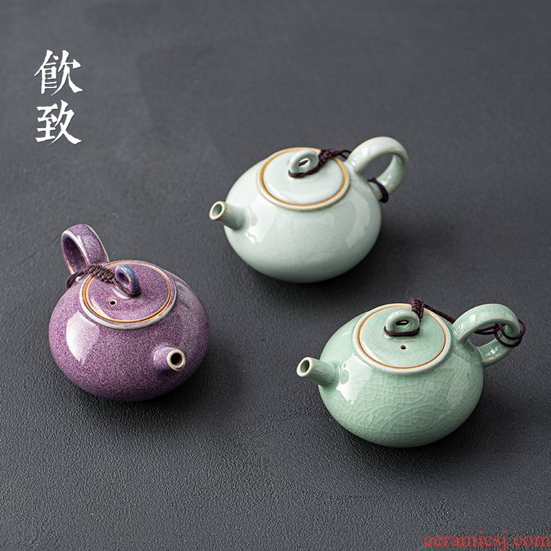 Ultimately responds to up slicing can keep little teapot individual contracted ceramic kung fu tea set the antique teapot single pot of masterpieces