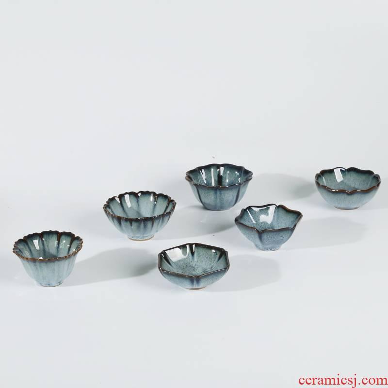 Ancient sheng up new petals are glazed bowl lived up tea red glaze, henan jun porcelain ceramic tea set