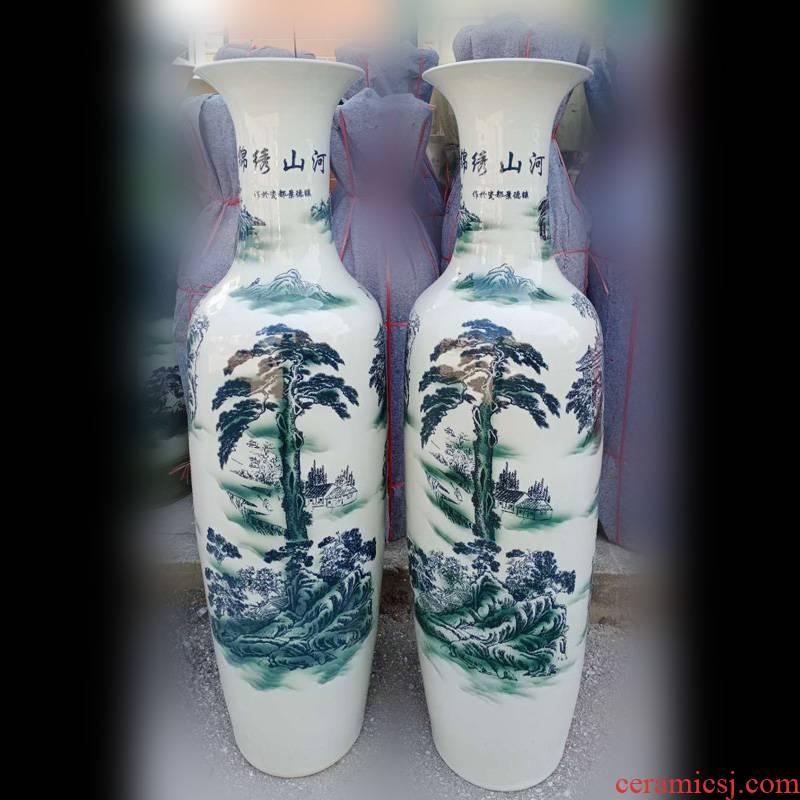 Jingdezhen 1.2 meters 1.4 meters 1.6 meters, 1.8 meters high ground scenery splendid sunvo landscape big vase