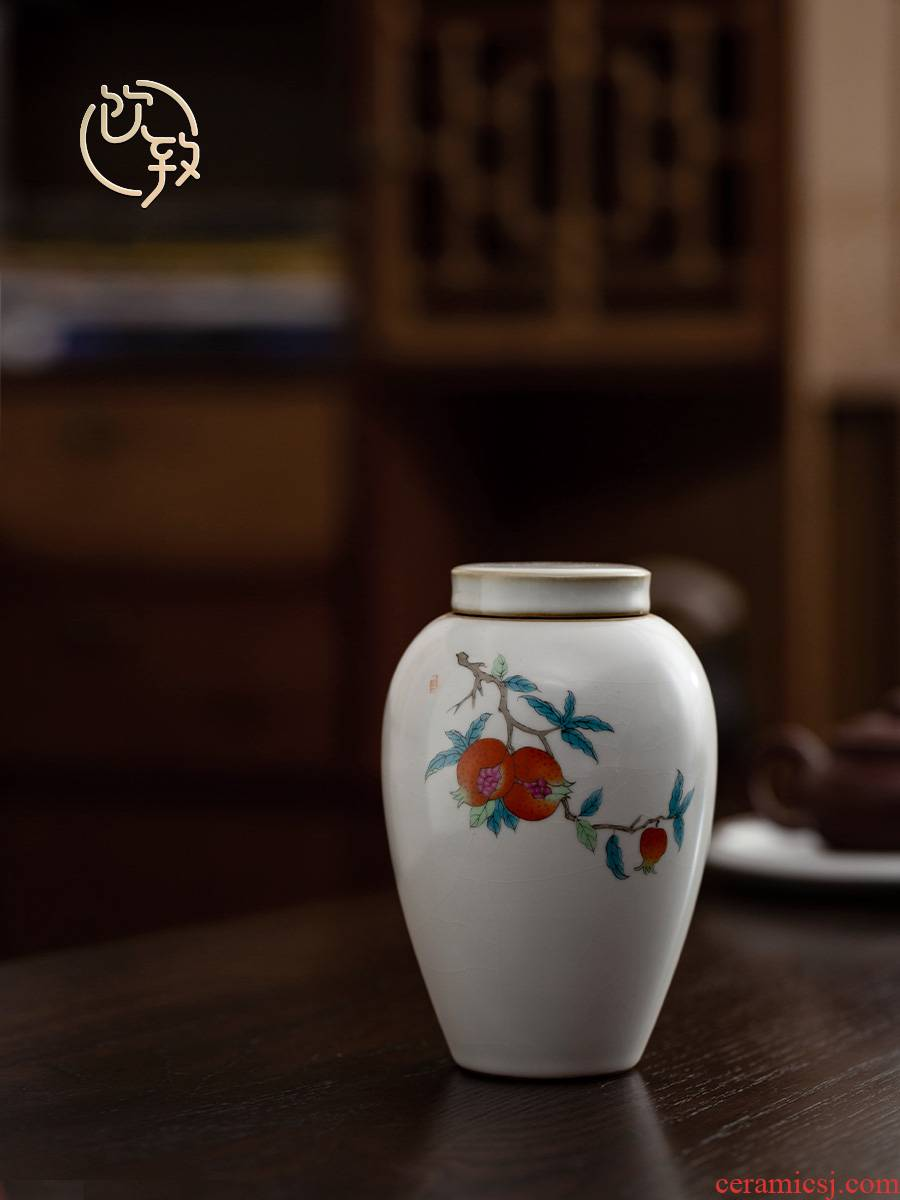Ultimately responds to up ceramic tea pot seal pot large storage tank with pu 'er wake receives loose tea tea pot