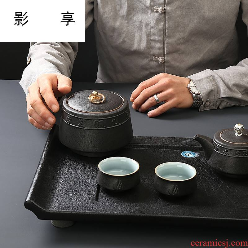 Shadow at zen wind restoring ancient ways is coarse pottery tea pot small sealed ceramic POTS of black pu 'er tea storage warehouse SRF