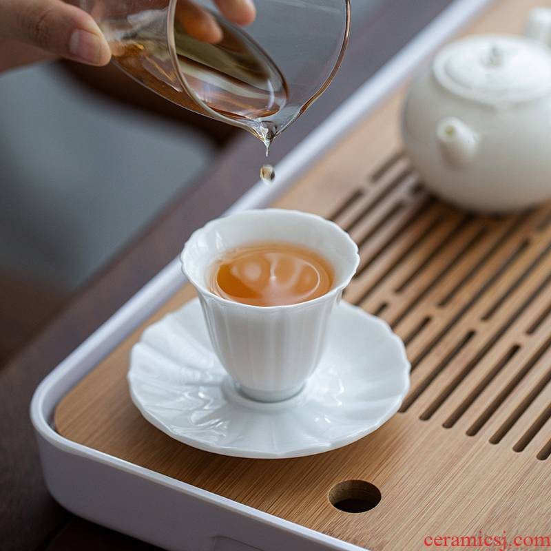 Ultimately responds to ceramic masters cup single cup sample tea cup small tea cups a single individual kongfu tea cup