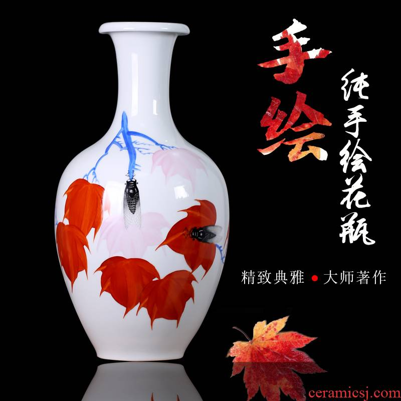 Jingdezhen ceramic masters hand - made mesa vase rich ancient frame sitting room adornment household furnishing articles