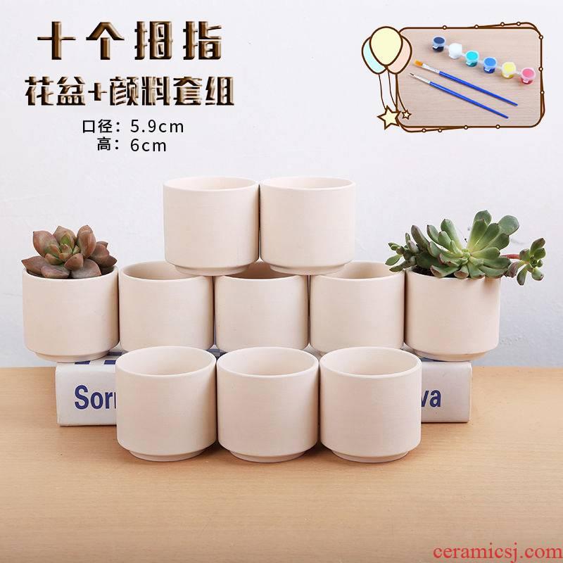 Thumb basin type combination control its fleshy ceramic flower pot mini type control Thumb basin to Sri Lanka