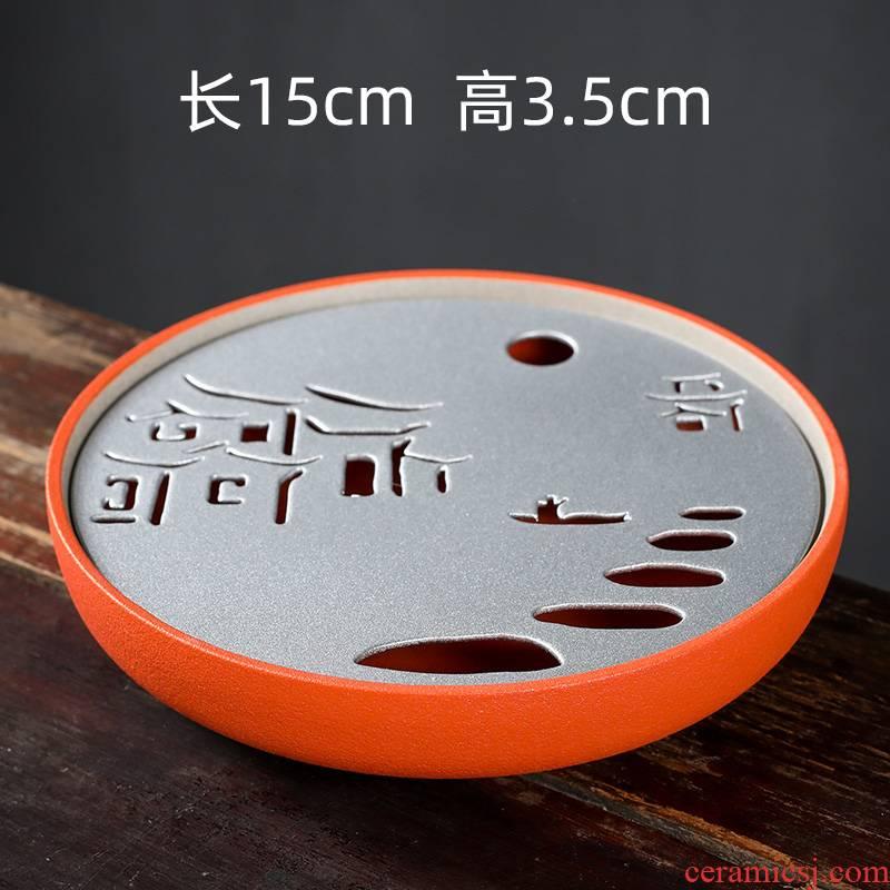 Ya xin pot bearing small dry terms plate hand made ceramic tea tray was dry Taiwan tea sets tea set a pot of tea accessories