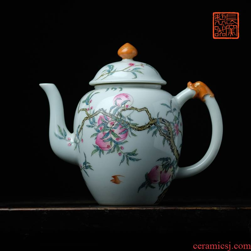 A long up jack offered home - cooked in pastel see live long and proper teapot jingdezhen ceramic tea set tea table by hand