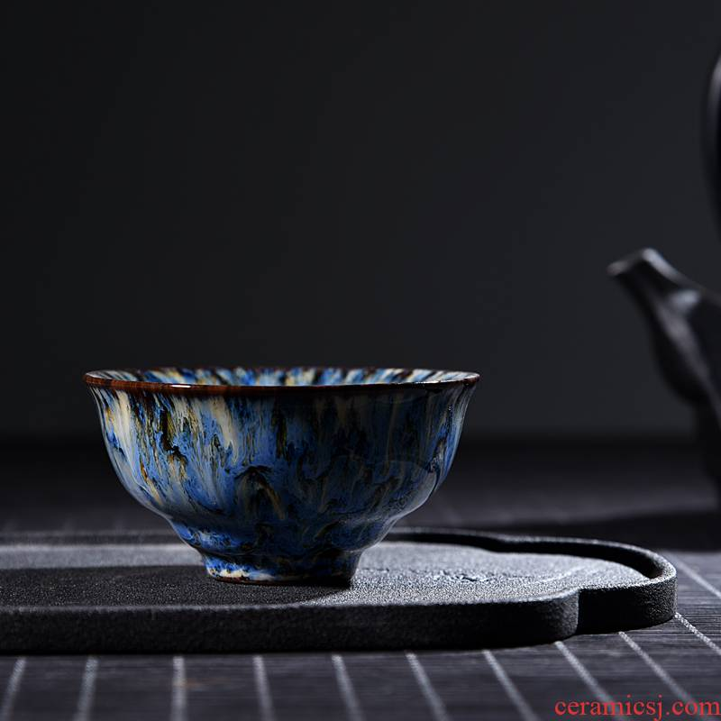Ancient shing new up up of ceramic cup host oil - lamp can build temmoku bowl with a large single lamp that kung fu tea cup