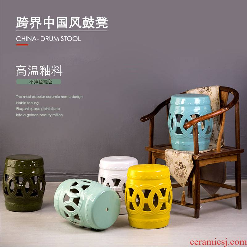 Jingdezhen high temperature ceramic drum who manual Chinese rural study classical bedroom home toilet who ceramic drum who