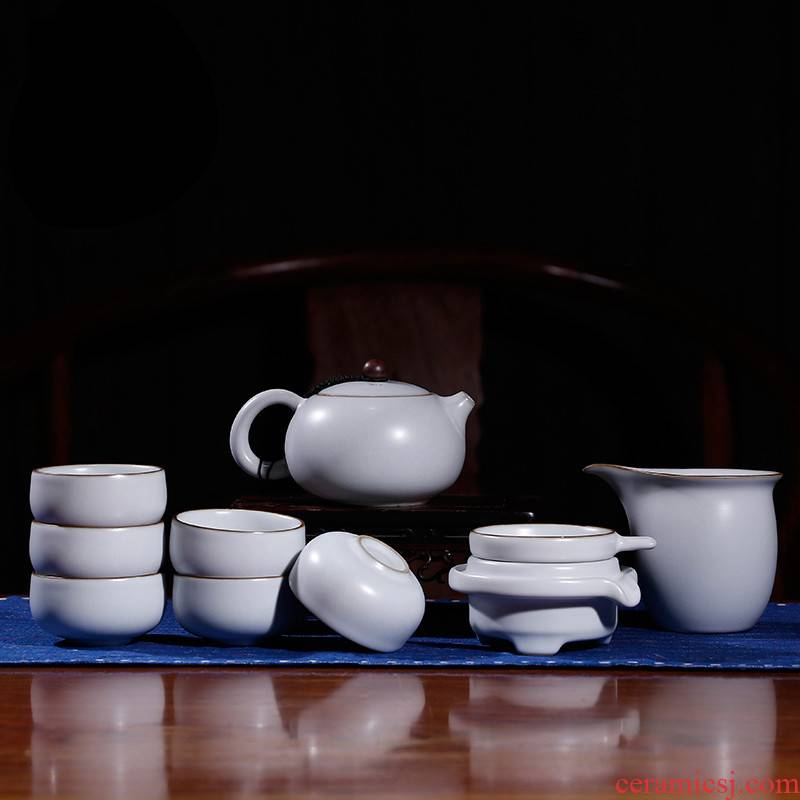 The Poly real boutique scene. Your up glaze kung fu tea set home sitting room tea jingdezhen ceramic cups teapot