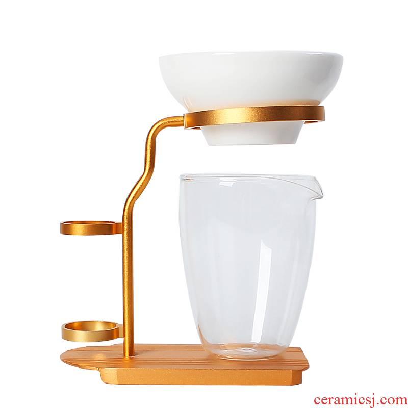 Ya xin without hole) fair keller suit household ceramic filtration mesh bracket tea bucket tea accessories