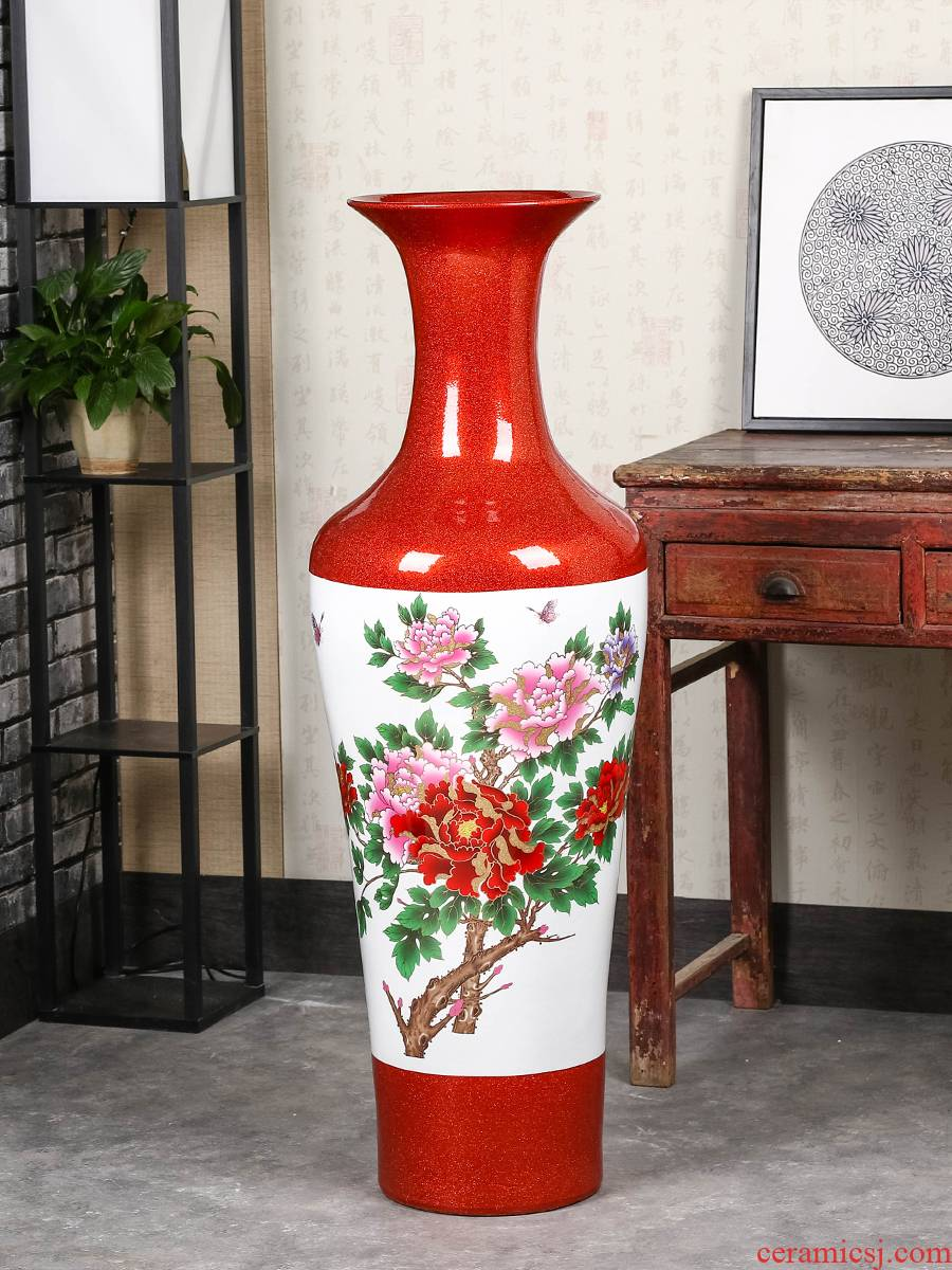Jingdezhen of large vases, modern Chinese style 1 m ceramic vase sitting room TV ark place decoration decoration