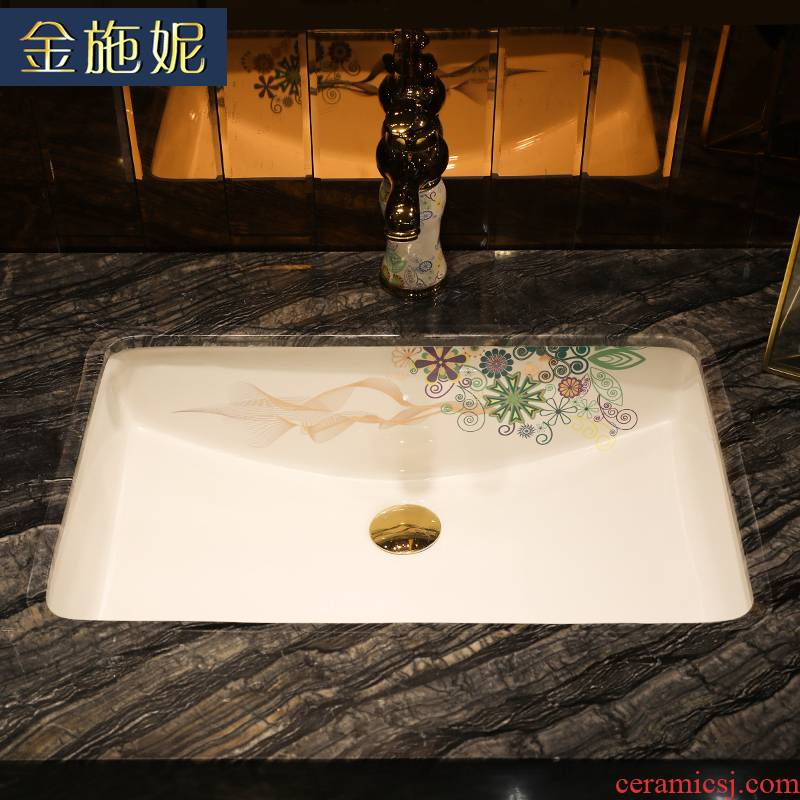 Art ceramic undercounter lavabo embedded household ceramics basin hotel balcony toilet lavatory