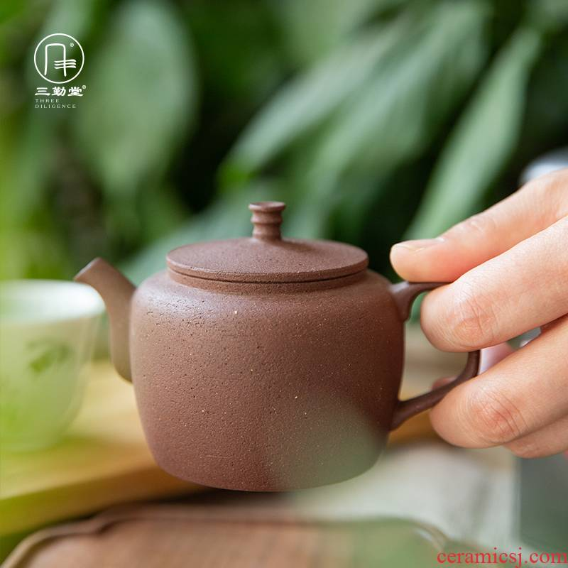 Three frequently hall jingdezhen pure manual clean pot 】 【 famous clay pot of old rock clay pot little teapot kung fu tea set