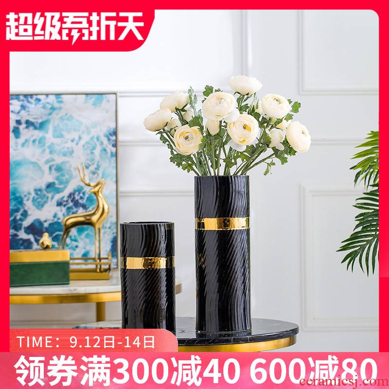 Nordic light key-2 luxury ceramic vase furnishing articles ideas of I sitting room is contracted TV cabinet table flower arrangement home decoration