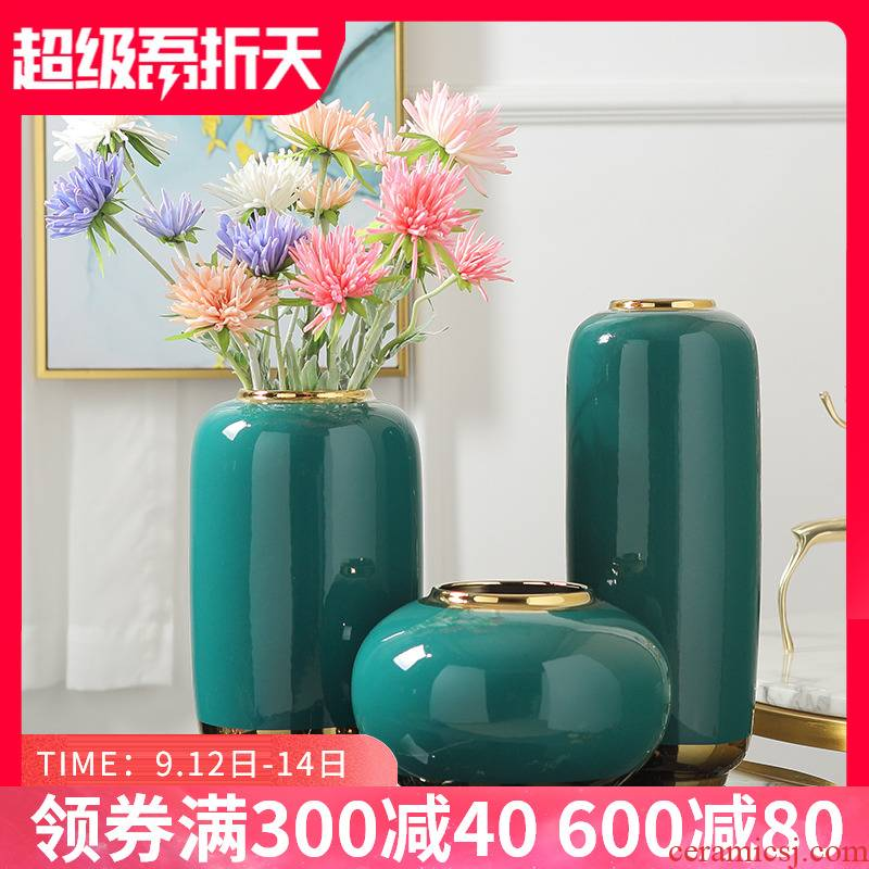 Jingdezhen European vase Nordic light sitting room key-2 luxury ceramic flower arranging flowers is contracted and I new Chinese style porch act the role ofing is tasted