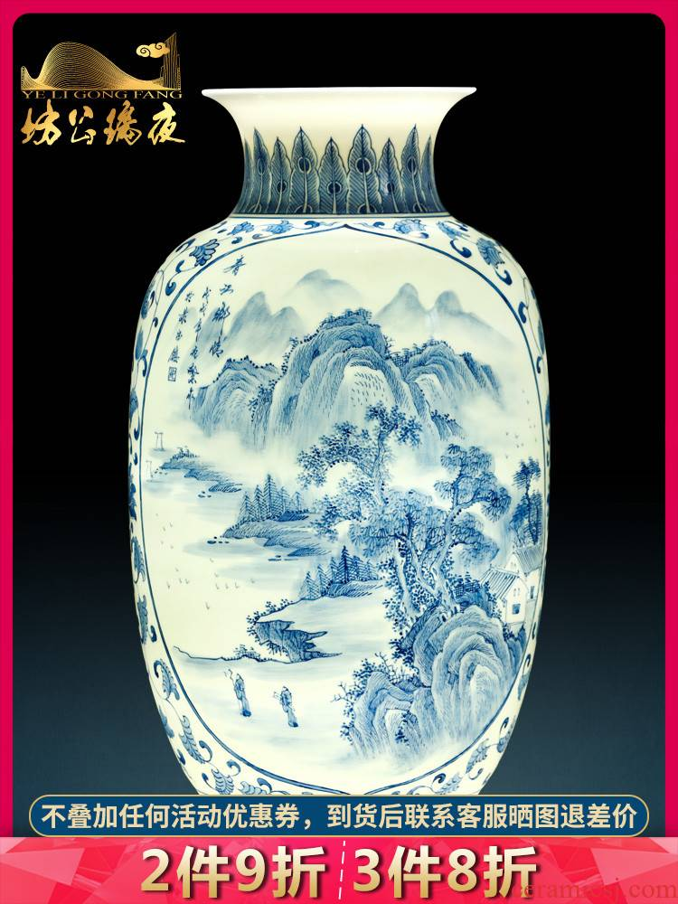 The jingdezhen ceramics hand - made vases, flower arranging chunjiang nostalgia furnishing articles of Chinese style living room porch TV ark, decoration