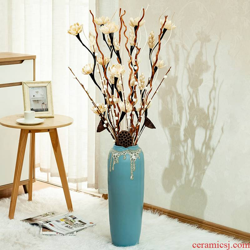 I and contracted ceramic flower arranging ground vase continental creative contracted sitting room flower implement Nordic home decoration furnishing articles