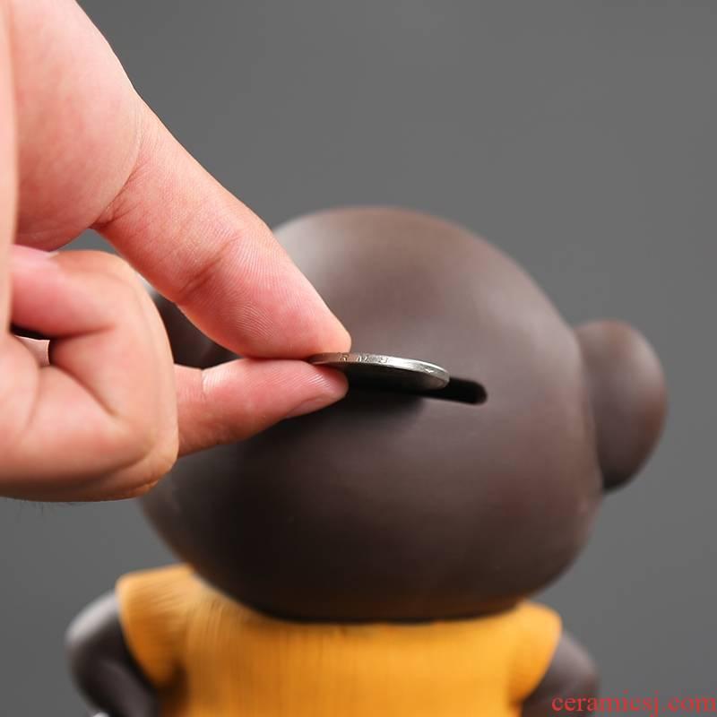 "Qiao mu creative color sand ceramic thousand ""get piggy bank tea pet home furnishing articles desktop adornment ornament"