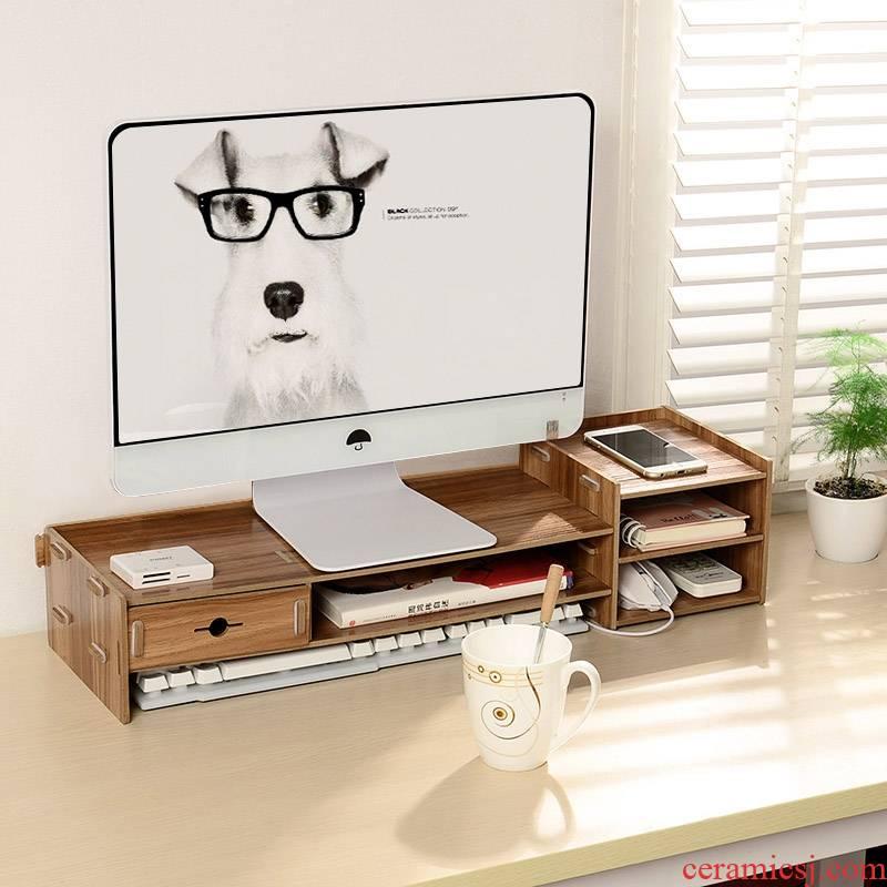 Who display rack room desk receive the shelf panel PC desktop computer shelf increased base frame