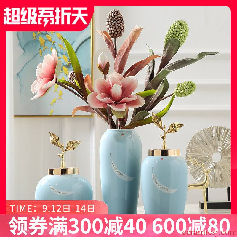I and contracted style creative hand - made ceramic vase mesa adornment simulation flower arranging flowers sitting room act the role ofing is tasted furnishing articles