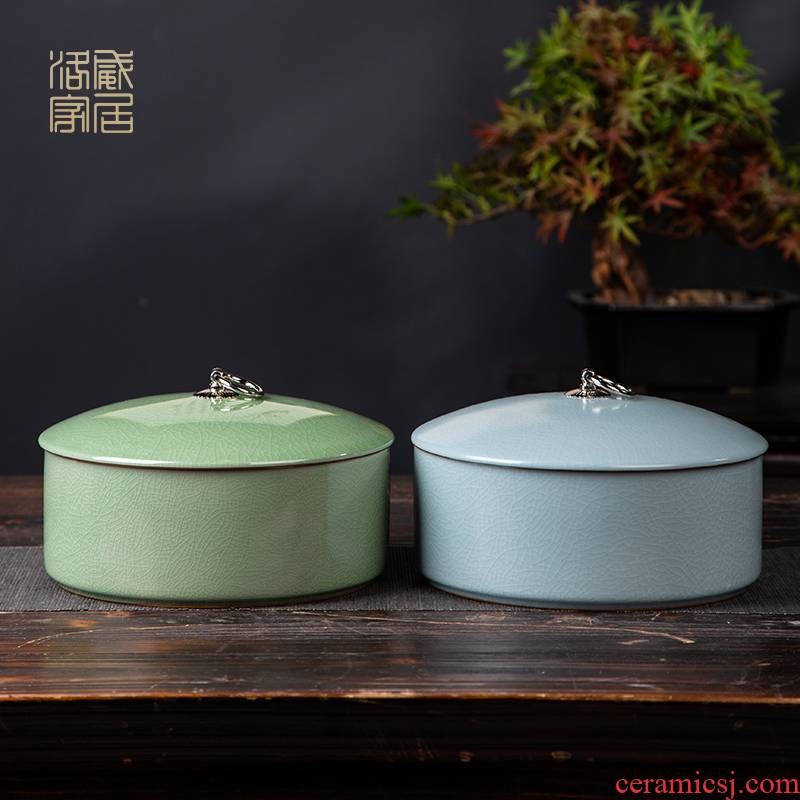 Your up caddy fixings household sealed as cans jingdezhen ceramic jar open tea cake store receives box tank storage tanks