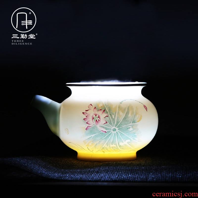 Three frequently hall hand - made points of tea ware jingdezhen ceramics fair keller pastel celadon equipartition tea S32001 sea