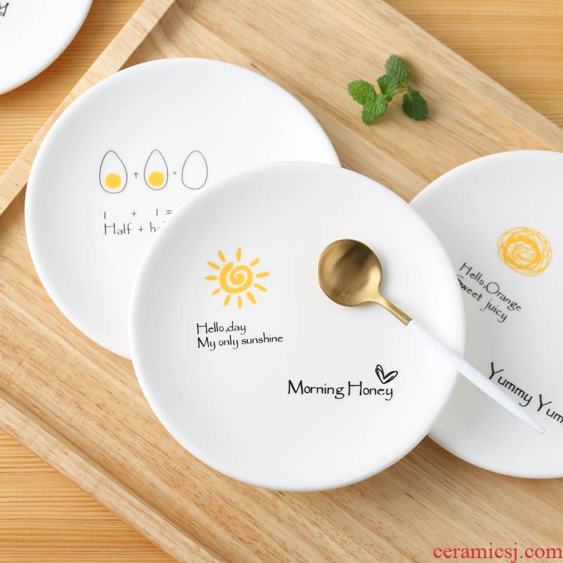 Creative design ceramic plates home snacks dessert small dishes to vomit ipads dish dish flavor dish cake plate