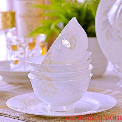 Combination tableware dinner dishes simple set of household continental jingdezhen ceramic dishes ipads suits for China V