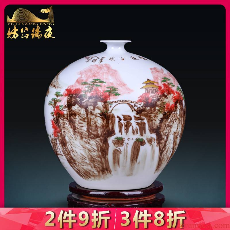 Jingdezhen porcelain much luck creative archaize ceramic furnishing articles sitting room rich ancient frame of Chinese style household decorative vase