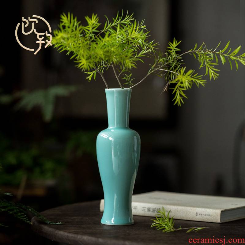 Ultimately responds to celadon vase furnishing articles flower arranging creative contracted sitting room tea table flower implement hydroponic floret bottle ceramic furnishing articles