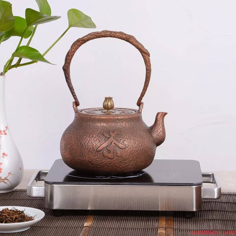 Ancient copper kettle sheng up manually copper teapot copper kettles retro cast copper boiling tea machine electricity TaoLu teapot tea stove