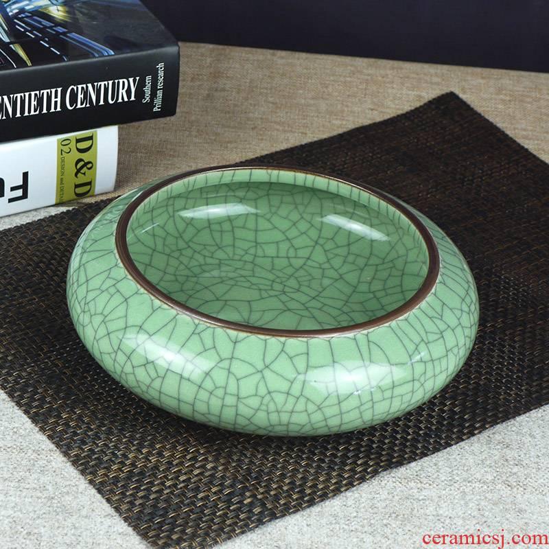 Jingdezhen ceramic large writing brush washer ashtray tea wash to crack glaze ceramic refers to basin filling melon bowls little gold fish
