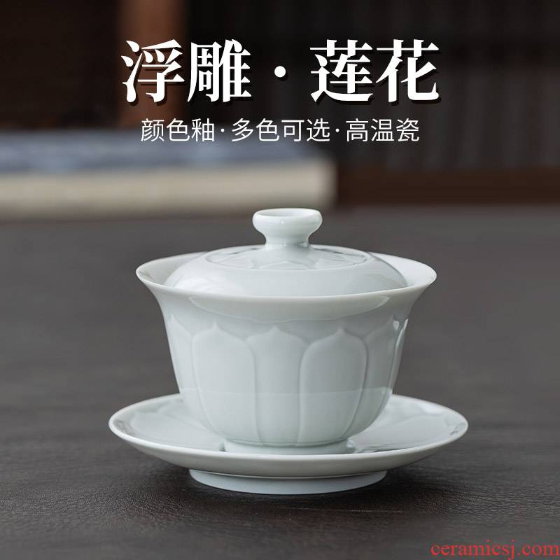 Ultimately responds hot tureen jingdezhen tea cups to prevent from the manual only three bowl of tea large single is not hot