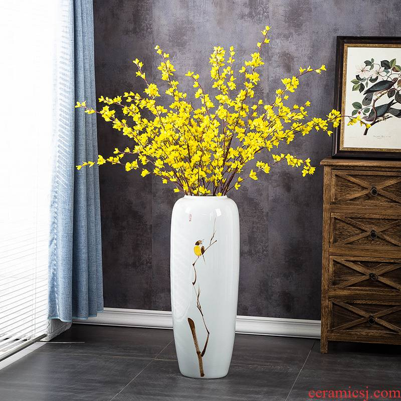 Ceramic vases, large sitting room of Chinese style porch floor furnishing articles hand - made I and contracted household dry flower arranging flowers restore ancient ways